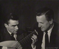 NPG x15240; Peter Pears; Julian Bream by Lotte Meitner-Graf